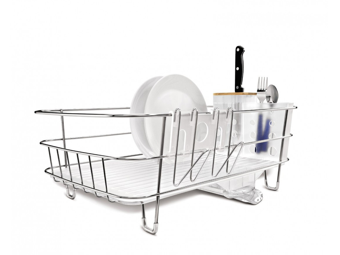 Suszarka do naczyń Simplehuman Wire Frame Slim White
