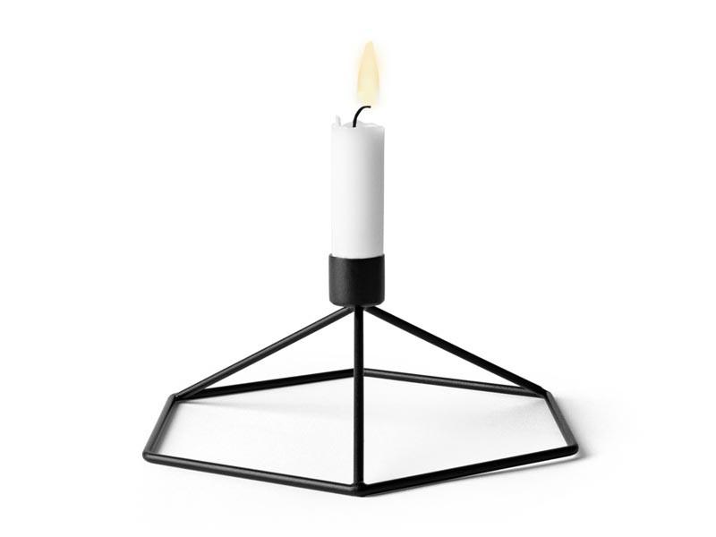 Świecznik Menu POV Candleholder Black