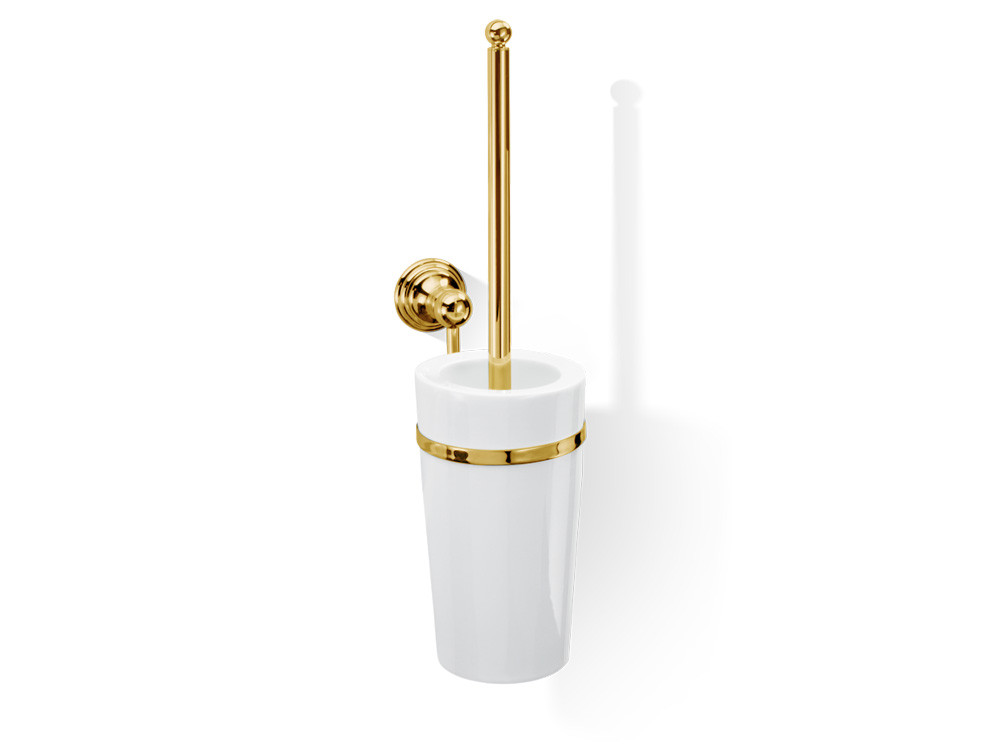 Szczotka do WC ścienna Decor Walther Classic CL WBG Porcealin Gold