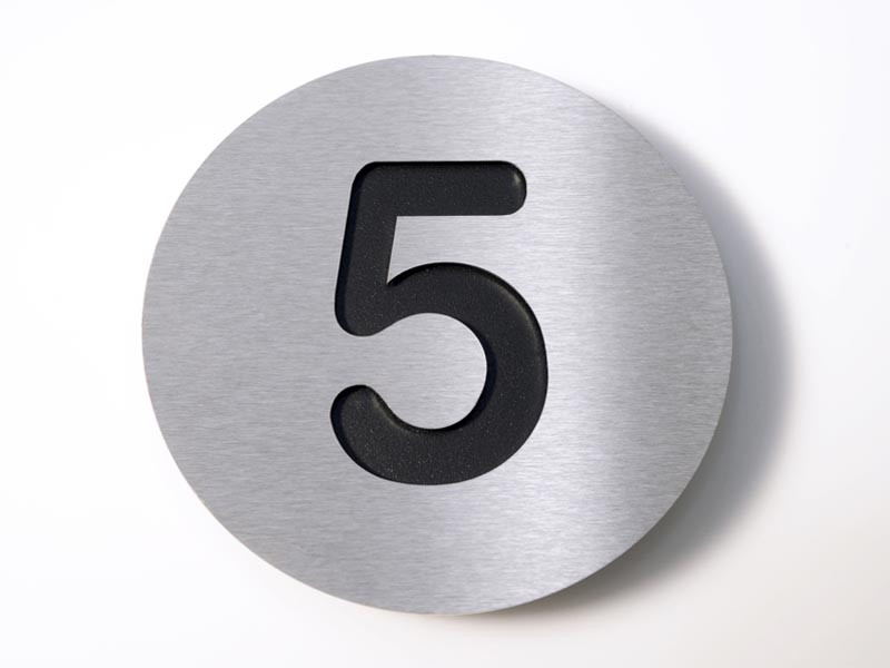 Tabliczka numeryczna Radius 5 Black