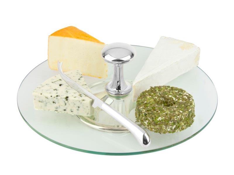 Patera do serów z nożem Zilverstad Cheese Stand