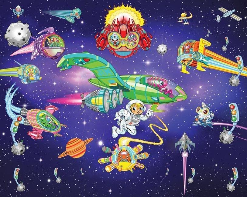 Tapeta dla dzieci Walltastic 3D Alien