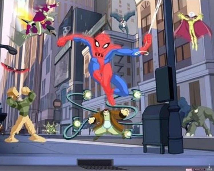 Tapeta dla dzieci Walltastic 3D Spiderman