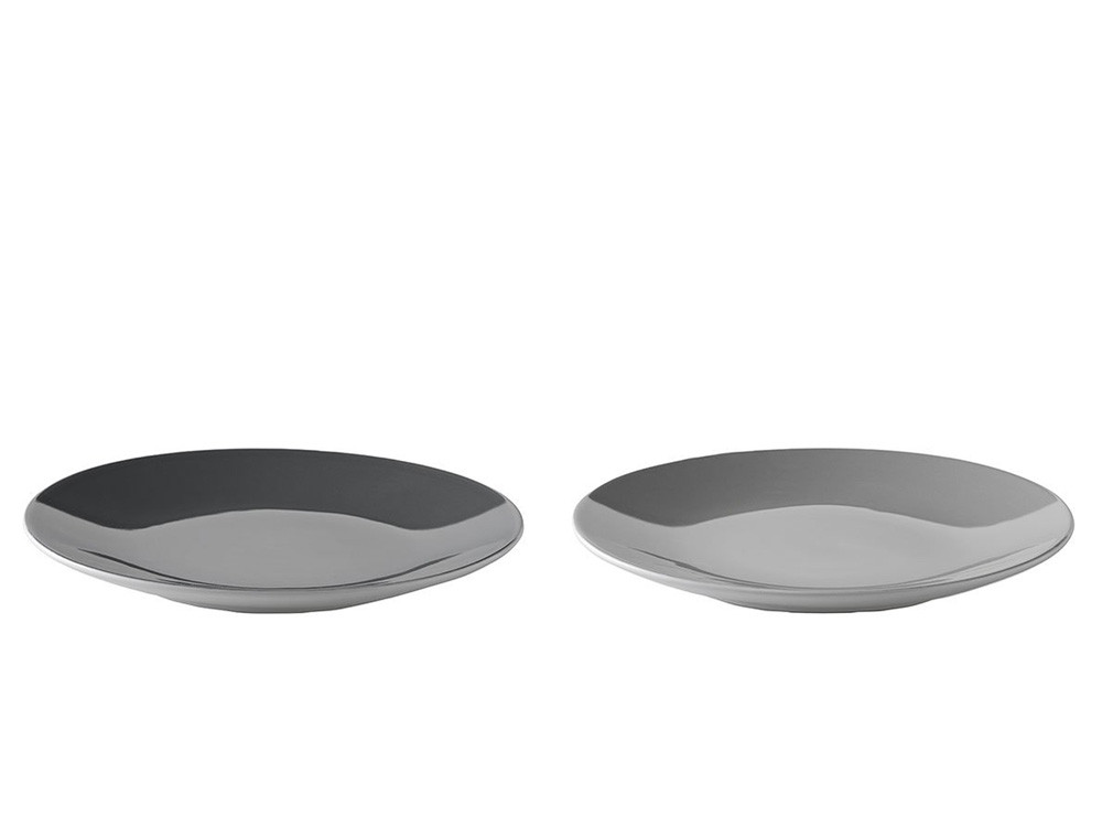Talerz obiadowy zestaw x2 Stelton Danish Modern 2.0 Emma Grey