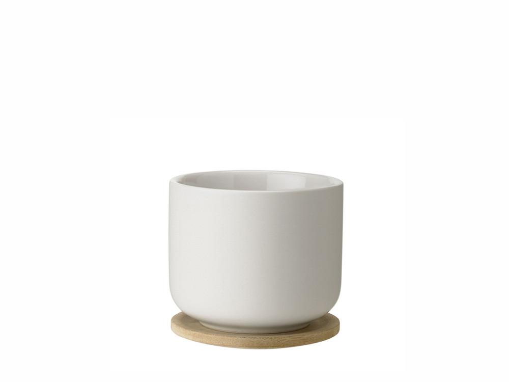 Kubek na herbatę z podstawką Stelton Nordic Theo Sand