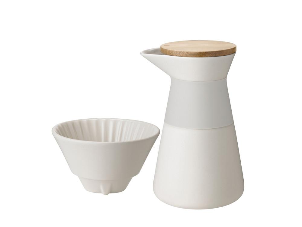 Dzbanek z dripperem do parzenia kawy Stelton Nordic Theo Sand 0,6L
