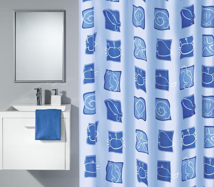 Zasłona Sealife Blue 180x200
