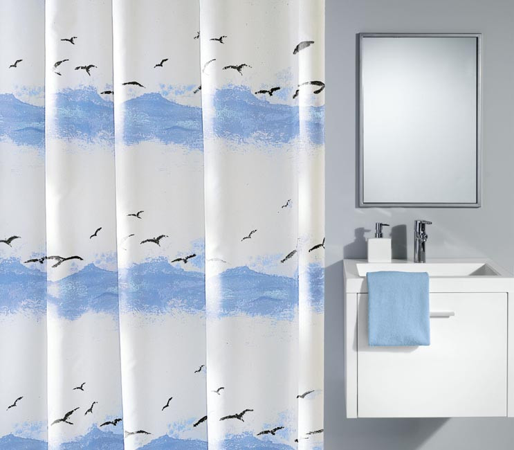Zasłona Seaside Blue 180x200