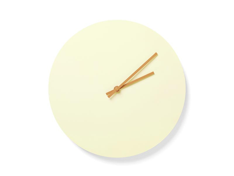 Zegar ścienny Menu Steel Wall Clock Yellow