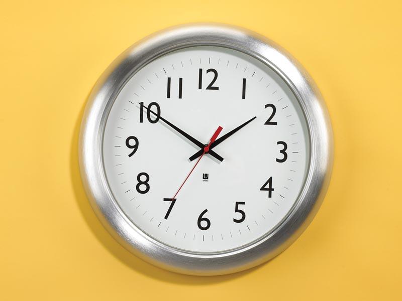 Zegar ścienny Umbra Station Aluminum Matte