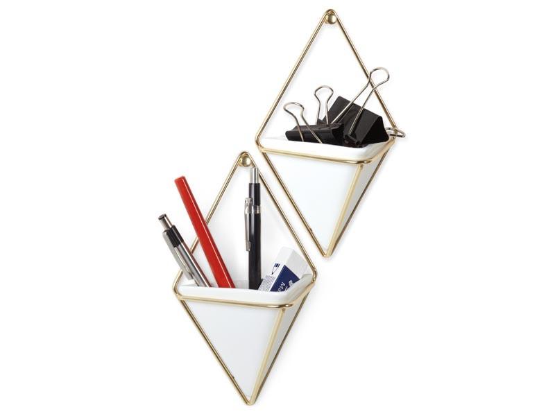 Zestaw 2x półka/ pojemnik ścienny Umbra Trigg Set Brass