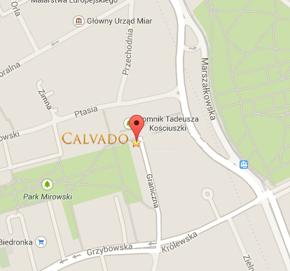 Mapa dojazdu do Calvado